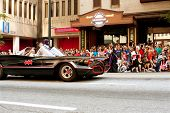 Batman Rides In Batmobile In Atlanta Dragon Con Parade