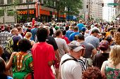 Huge Crowd Fills Street Following Atlanta Dragon Con Parade