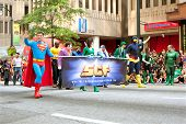 Superman Walks In Atlanta Dragon Con Parade