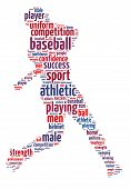 Wordles of A Baseball Player