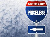 stock photo of priceless  - Priceless road sign - JPG