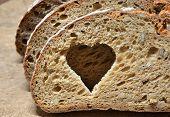 fresh sliced ??bread on a table