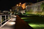 Night Priamar Fortress