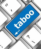 Keyboard Computer Keys With Word Taboo