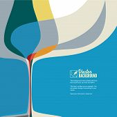 image of cocktail menu  - Abstract vector illustration with silhouette of wine glass - JPG