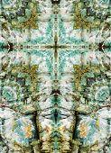 kaleidoscope cross, colorful chert layers