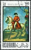 Vintage  Postage Stamp.  Napoleon Bonaparte,  War With Second Coalition