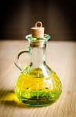 Small Bottle Of Olive Oil With Cork Stopper