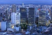 Downtown Sao Paulo in the night time