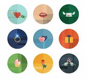 Collection of Nine Vector Valentine's Day Icons