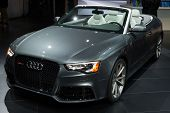 LOS ANGELES, CA - NOVEMBER 20: An Audi RS5 on exhibit at the Los Angeles Auto Show in Los Angeles, CA on November 20, 2013