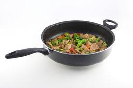 foto of stir fry  - stir fry in a pan - JPG