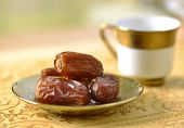 Arabic dates and tea