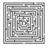 Square Labyrinth Puzzle