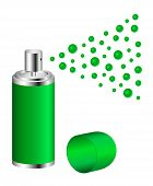 Spray in green design