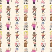 picture of wench  - Seamless Medieval People Pattern - JPG