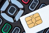 Cell Phone And Sim Card