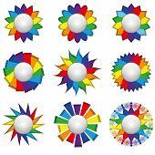 Nine Rainbow Icons