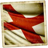 foto of alabama  - This is an illustration of folded flag of Alabama  - JPG
