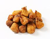 naturally dried figs on the heap