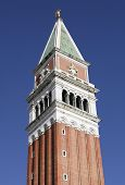 Campanile bell tower in St. Mark's Square, Venice, Italy