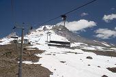 Summer Ski Lift On Mt Hood poster