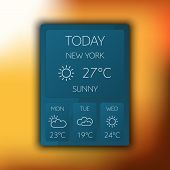 Vector weather widget