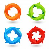 Circle Arrow Icons Set