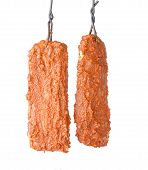 Preparation bastourma. dried meat