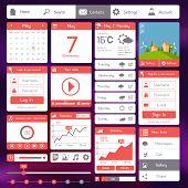Flat user interface template