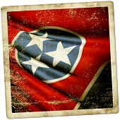 picture of memphis tennessee  - This is an illustration of folded flag of Tennessee  - JPG