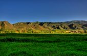stock photo of armenia  - Greenfields and hills near the Vayk  - JPG