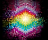 pic of cancer horoscope icon  - star form the twelve horoscopes at the colourful background - JPG