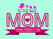 Happy mothers day Greeting card design for your mom