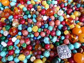 Beads in various colors and materials