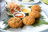 Thai Food Fried Shrimp Cake (Tod Mun Kung)