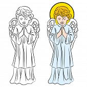 An image of a praying angel.
