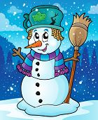 Winter snowman theme image 7 - eps10 vector illustration.
