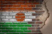 Dark Brick Wall With Plaster - Niger