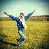 Happy Teenager Running