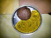 South Indian specalitate made of red finger millet flour called