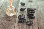 Aromatherapy Sticks And Black Stones