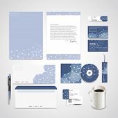 stock photo of spatial  - soft geometric background design for corporate identity set in blue - JPG