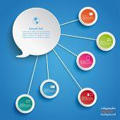 Speech Bubble 5 Circles Blue Sky