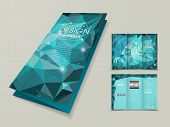 Abstract Polygonal Background For Tri-fold Template
