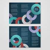 Colorful Circle Layout Design For Tri-fold Brochure