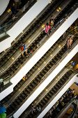 Bangkok, Thailand - September 12, 2013: Crowd On Escalator At Terminal21 Shopping Mall