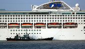 Large Cruise Ship Docks In Taiwan