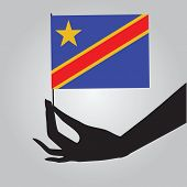 Flag Of The State Of Congo