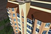 picture of social housing  - Multistorey building structure building social housing neighborhood - JPG